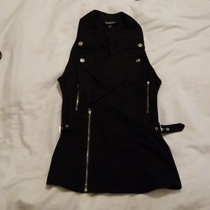 Bebe black vest zipper detail Size XS